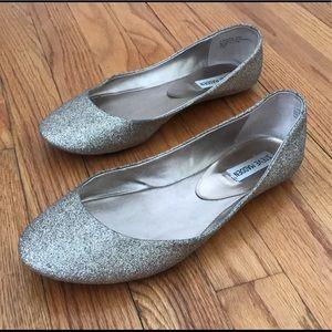 Steven Madden Gold Glitter Ballet Flats